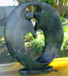 African Sculpture - Dancing Couple, 15 H Shona Stone