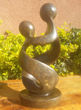 Mother and Child, Stone Sculpture 9 H