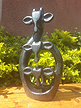 Family of 3 Giraffes, Stone Sculpture 10 H