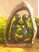 Family of 4 - Inscribed Natural, Stone Sculpture 12 H