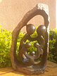 Family of 5 - Inscribed Natural, Stone Sculpture 12 H