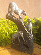 Family of 3 Leopard, Stone Sculpture 12 H