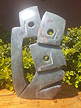 Family of 3 Face, Stone Sculpture 13 H