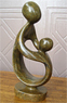 Mother and Child Sculpture, 8 H Shona Stone