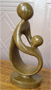 African Sculpture - Mother & child, 7 H Shona Stone