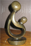 African Sculpture - Mother & child, 8 H Shona Stone