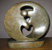 African Sculpture - Dancing Couple, 9H Shona Stone