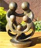 African Sculpture - Family of Five, 8 H Shona Stone