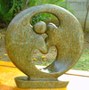 African Sculpture - Dancing Couple, 8 H Shona Stone