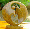 African Sculpture - Dancing Couple, 11 H Shona Stone