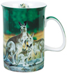 Kangaroo Family Mug, Bone China
