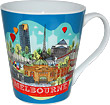 Melbourne, Australia Skylines Coffee Cup