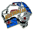 Map of Australia - Fridge Magnet