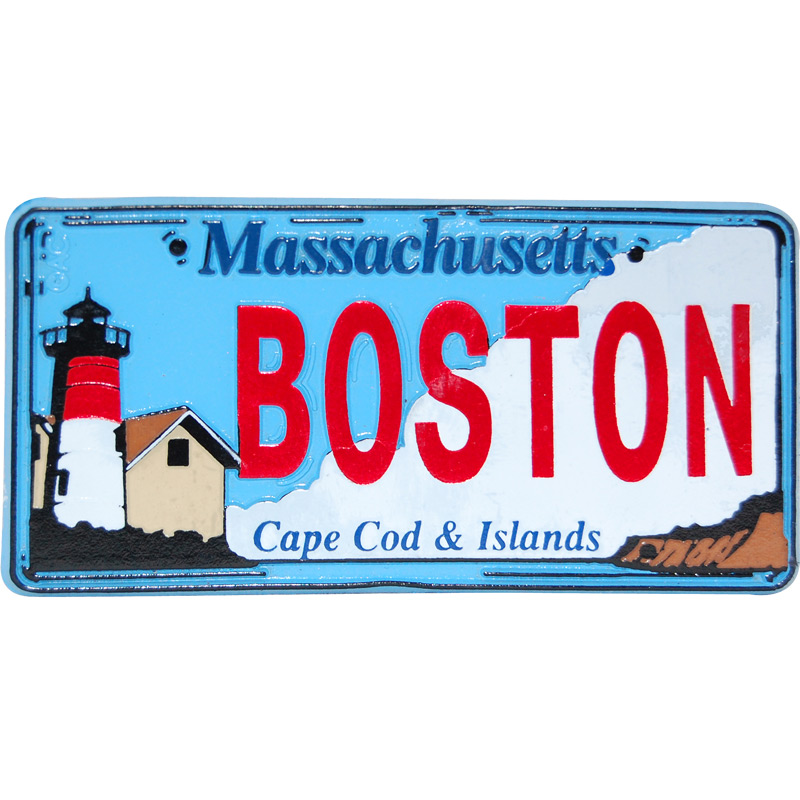 Boston City License Plate Magnet