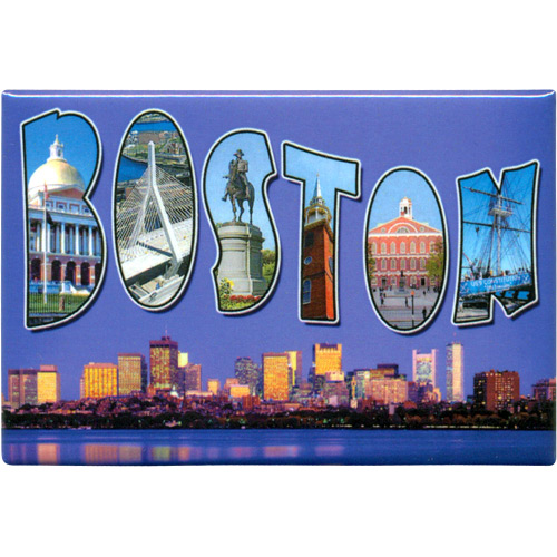 Boston Skyline Souvenir Metal Magnet