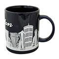 Boston Mug - Cobalt Blue with Skyline Silhouette