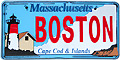 Boston City License Plate Magnet