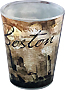 Boston Shot Glass - Collage Art Design