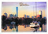 Boston Sunset Skyline Souvenir Postcard, 6x4
