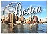 Boston Waterfront View Souvenir Postcard, 6 x4