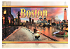 Boston Sunset Collage Souvenir Postcard, 6x4