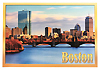 Boston Skyline With Salt & Pepper Bridge View Souvenir Postcard, 6x4
