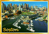 Boston View Souvenir Postcard, 6x4