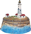 Boston Light Miniature Replica Trinket Box - 4.5 H
