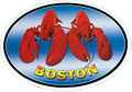 Boston Lobster Oval Magnetic Sticker - 5.25L
