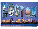 Boston Souvenir Jumbo Post Card Magnet - 5.75L