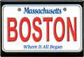 Boston License Plate Souvenir Metal Magnet