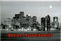 Boston City Skyline Souvenir Metal Magnet