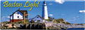 Boston Light Souvenir Metal Magnet - Panorama