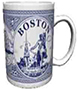 Boston Themed Delft Blue Coffee Mug