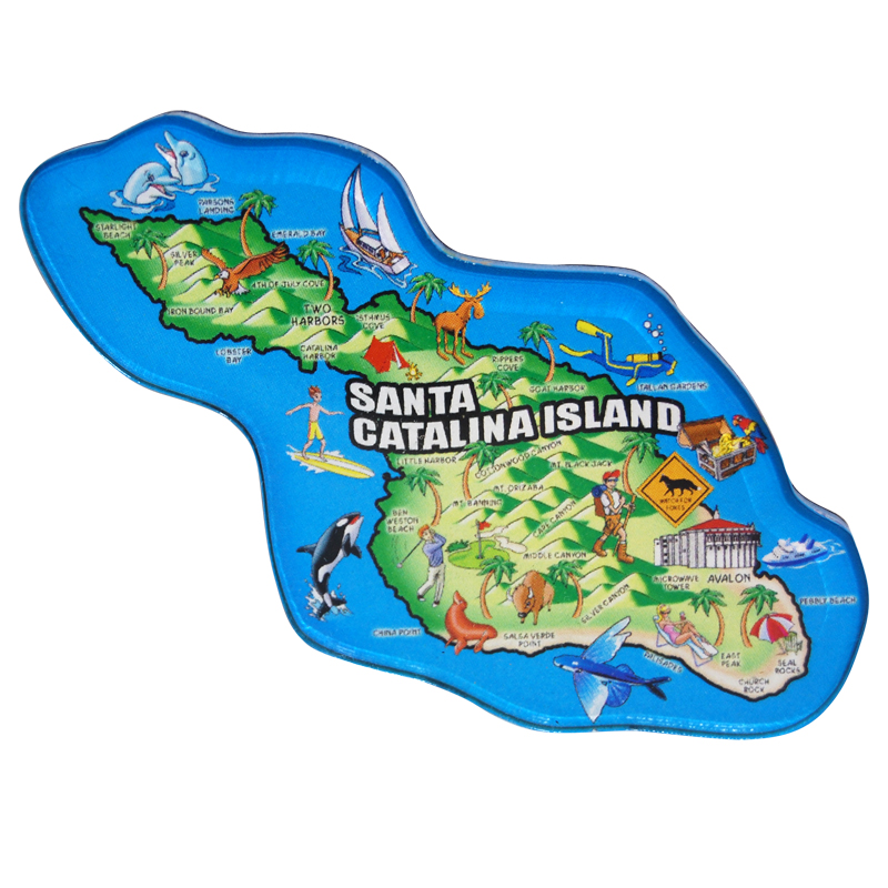 Santa Catalina Island Map Magnet on map accessories, map books, map pamphlets, map buttons, map pencils, map room decor, map puzzles, map name tags, map furniture, map post cards, map games, map throw blanket, map tools, map dry erase board, map paper, map lettering, map science projects, map invitations, map wall graphic, map watches,