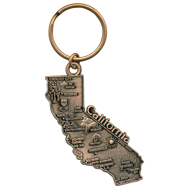 California State Map Metal Key Chain on key map of puerto rico, key map of latin america, county of california, key map of brazil, details of california, city of california, key map of new york, size of california, description of california, key map of france, google of california,