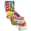 Scenic California State Map, Large Acrylic Magnet
