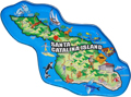 Santa Catalina Island Map Magnet