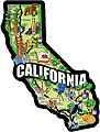 California State Map, Large Acrylic Magnet