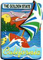 California State Magnet - The Golden State for Sailing