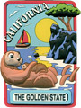 California State Magnet - The Golden State for Sea Otters
