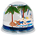 California Surfer Water Globe and Pen Holder