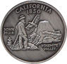 California Souvernir 1850 State Quarter Coin Magnet - Pewter, 1.25 D