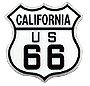 California Route 66 Magnet, Rubber