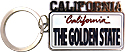 California The Golden State Key Chain