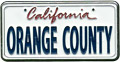 Orange County Mini License Plate, Metal Fridge Magnet