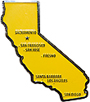 California State Fridge Magnet - Enamel