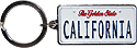 California The Golden State License Plate Key Chain