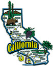 California Refrigerator Magnet - Large CA Map