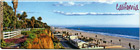 California Beach Souvenir Magnet - Panorama